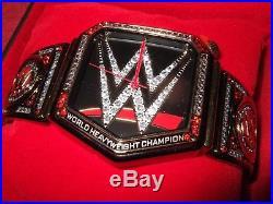 New Mens WWE Heavyweight Championship Title Belt Wrestling Sport Wrist Watch COA
