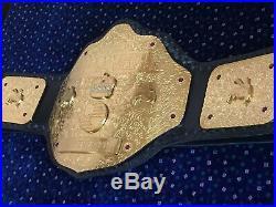 New WWE Big gold World Heavyweight championship belt 4mm Replica adult size
