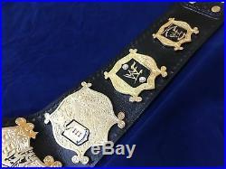 New WWF UNDISPUTED VERSION 1 Championship Title Belt 24K Gold Plated Zinc Plates