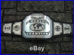 New World Championship Belt Enforcer Model Adult Size Handcrafted in U. S. A. Wwe