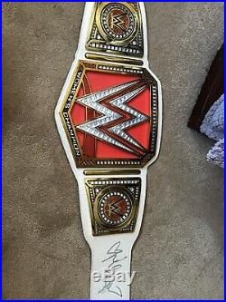 Nikki And Brie Bella Twins Signed Wwe Womens Championship Wrestling Belt JSA Coa