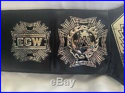 Official Ecw Championship Replica Rare Wrestling Belt Big Silver Wwe