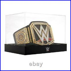 Official WWE Authentic Championship Title Belt Deluxe Display Case & Stand