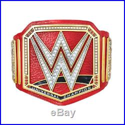 Official WWE Authentic Universal Championship Commemorative Title Belt Gold/Red