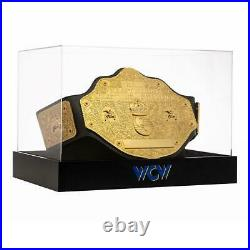 Official WWE Authentic WCW Championship Title Belt Deluxe Display Case & Stand