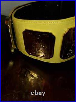 Official WWE Authentic Yellow Intercontinental Championship Replica Title Belt