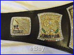 Original 2012 WWE Championship Leather Replica Spinner Belt With Case