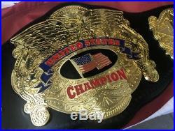 PREMIER United States CHAMPIONSHIP WRESTLING BELT WWE TITLE WWF NWA 4mm Title