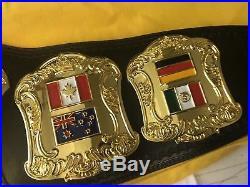 PREMIER WORLD CHAMPIONSHIP WRESTLING BELT WWE TITLE WWF NWA 4mm Title Wcw NWA