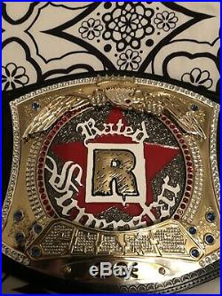 Partially Restoned WWE Rated-R Superstar Spinner Championship Belt