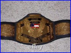 RARE 1999 WCW UNITED STATES CHAMPIONSHIP METAL ADULT SIZE REPLICA TITLE BELT wwe