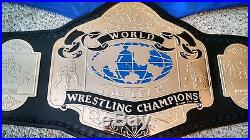 RARE NWA WORLD TAG TEAM CHAMPIONSHIP METAL ADULT SIZE REPLICA TITLE BELT wwe wcw