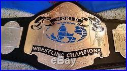 RARE NWA WORLD TAG TEAM CHAMPIONSHIP METAL ADULT SIZE REPLICA TITLE BELT wwe wcw