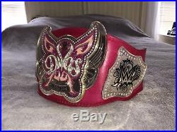 RARE WWE Divas Championship Belt On Real Leather! Rose Dyed! Only One On ebay