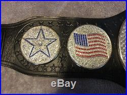 RARE WWE John Cena United States spinner Championship Belt On Real Leather