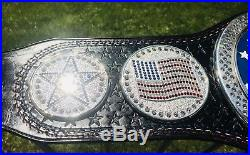 REAL LEATHER RESTONED WWE Cena US Championship Spinner Belt Adult Size By Red