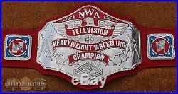 REAL Reggie Parks NWA World Television Championship Wrestling Title Belt WWE WWF