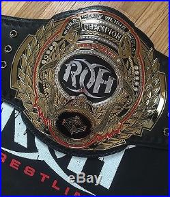 ROH Ring Of Honor Wrestling Championship Title Belt Adult Metal Plates WWE WWF