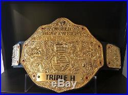 Real 3D WWE Logo Big Gold Heavyweight Championship Belt Triple H WCW WWF AEW