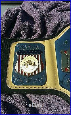 Real AWA Inmate World Heavyweight Title Championship Wrestling Belt Rare WWE