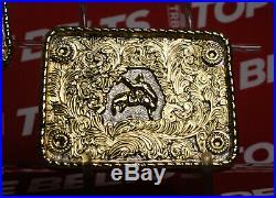 Real Big Gold Plates for Championship Wrestling Belt WWE UFC WCW