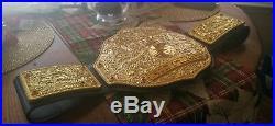 Real Big Gold Real Wrestling championship Belt BRAND NEW nwa WCW WWE tna ecw