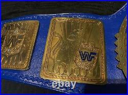 Real Championship Title Belt Made By Jmar Block Logo Big Eagle Wwf Wwe