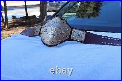 Real Dave Millican Made Cast Crumrine Big Gold Championship Belt WCW WWF WWE