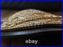 Real Handmade Big Gold Championship Belt Top Rope Belts WWE WWF AEW TNA