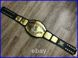 Real Leather Strap WWE Intercontinental Replica Championship Title Belt
