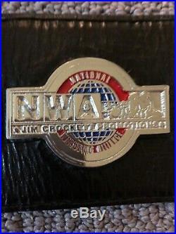 Real NWA World Television Championship Wrestling Belt Reggie Parks WWF WCW WWE