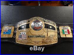 Real Nwa Worlds Heavyweight Wrestling Championship Belt Wwf Wwe Nwa