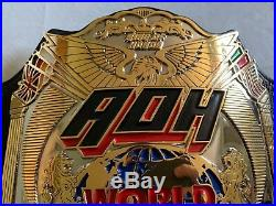 Real ROH Ring of Honor World Tag Team Championship Wrestling Belt WWE TNA