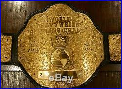 Real Reggie Parks Made Big Gold Championship Wrestling Belt Wcw Nwa Wwe