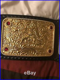 Real WWE 3D Big Gold Championship Title Belt WCW Nwa WWF ECW