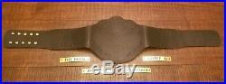 Real WWE Big Gold World Heavyweight Championship Leather Belt American Made