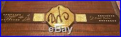 Real WWE WCW NWO Big Gold Heavyweight Championship Belt Leather Rebels TRB Hogan