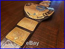 Real WWE WWF Big Eagle Championship Belt Real Leather Gold American Undertaker