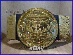 Real WWE WWF Big Green Championship Real Belt Real Leather American Hulk Hogan