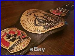 Real WWE World Heavyweight Tribute Championship Leather Belt The Rock Stone Cold