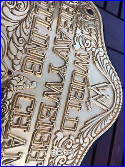 Real WWE World Heavyweight Wrestling Championship Title Replica Belt WWF WCW ECW
