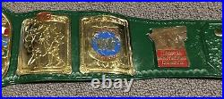 Real WWF European Championship Title Belt Real Leather 24k Gold WWE WCW AEW IC
