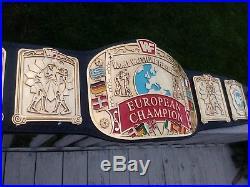 Real WWF European Championship Wrestling Title Belt WWE JMAR AMERICAN MADE PARKS