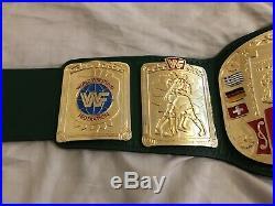 Real WWF European Championship Wrestling Title Belt WWE JMAR PARKS MILLICAN WCW