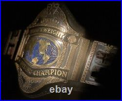 Real WWF Hogan 86 Dave millican Midwest Championship Belt WWE WCW
