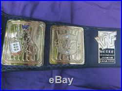 Real WWF WWE Big Eagle Block Logo Championship Belt wcw winged attitude era 1998