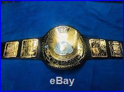 Real WWF WWE Big Eagle World Heavyweight Championship Belt by Red Leather