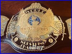 Real WWF Winged Eagle Championship Belt Dual Plates WWE