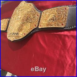 Real World Heavyweight Championship Big Gold By Belt Performance WWE WCW NWA