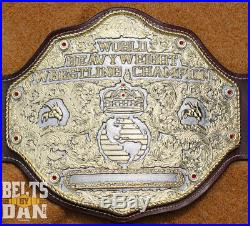 Real Wrestling Championship Title Belt Top Rope Belts Crumrine Big Gold NWA WWE